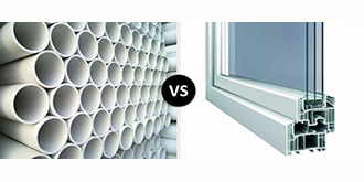 تفاوت پنجره upvc و لوله pvc