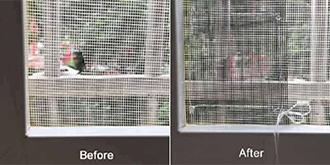 تعویض و تعمیر توری پنجره