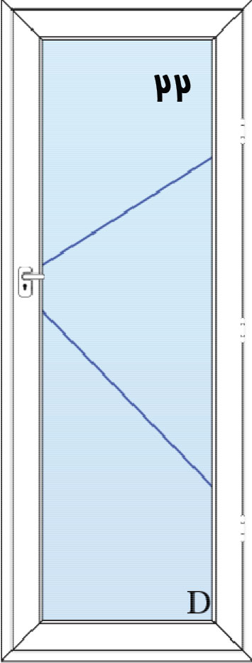 22-درب لولایی تمام شیشه