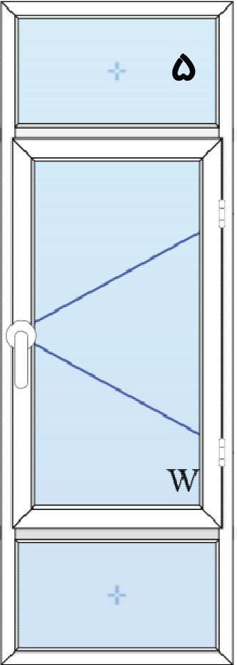 5-پنجره لولایی تک لنگه با کتیبه بالا و پایین