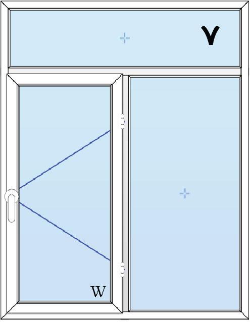 7-پنجره لولایی دولنگه با کتیبه بالا