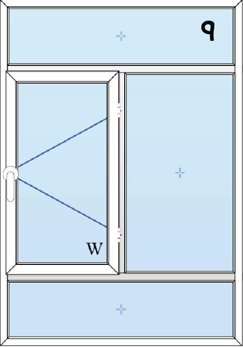 9-پنجره لولایی دولنگه بالا و پایین