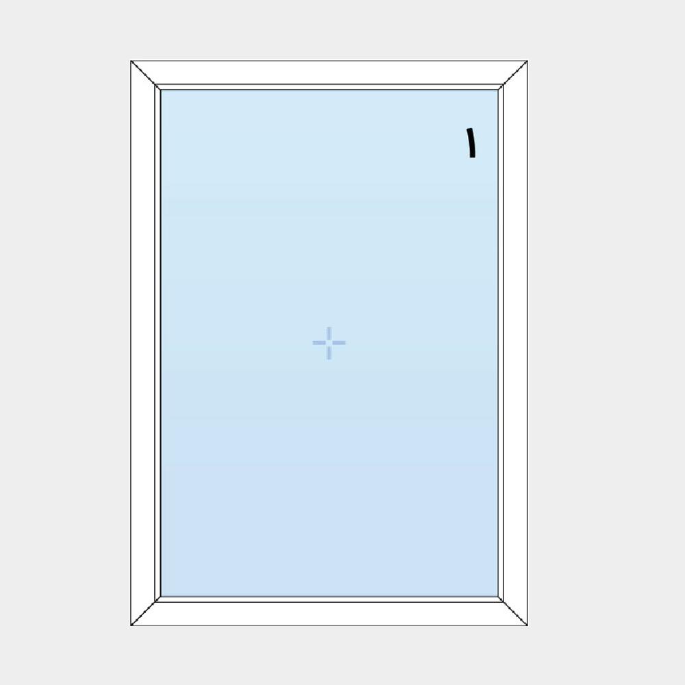 1-پنجره ثابت (بدون بازشو)