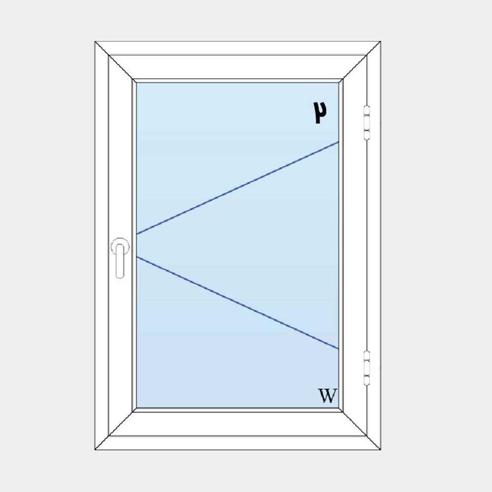 2-پنجره لولایی تک لنگه